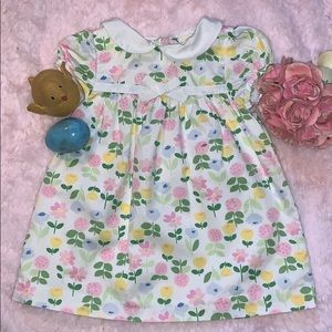 GAP FLORAL PRINT SHORT SLEEVE DRESS
